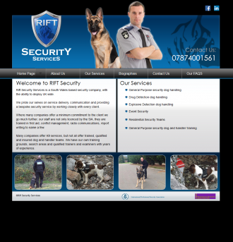 Rift Security Services Website
