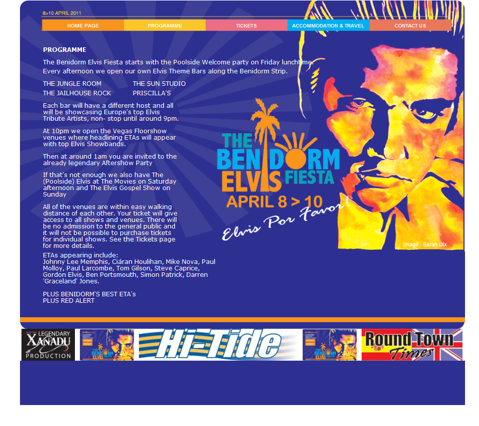An Image from Elvis in Benidorm Website