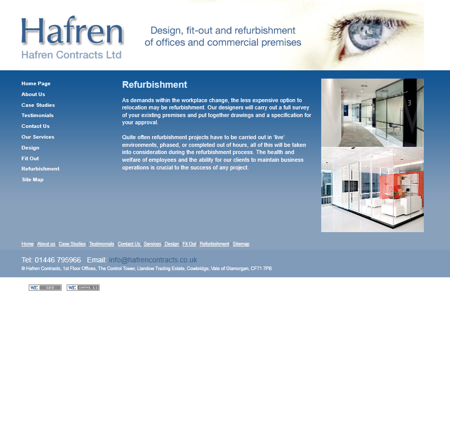 An image from Hafren Contracts Ltd Website