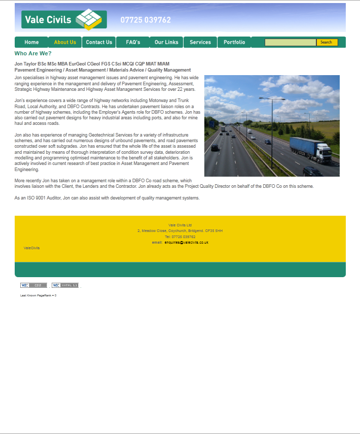 An image from Vale Civils Website
