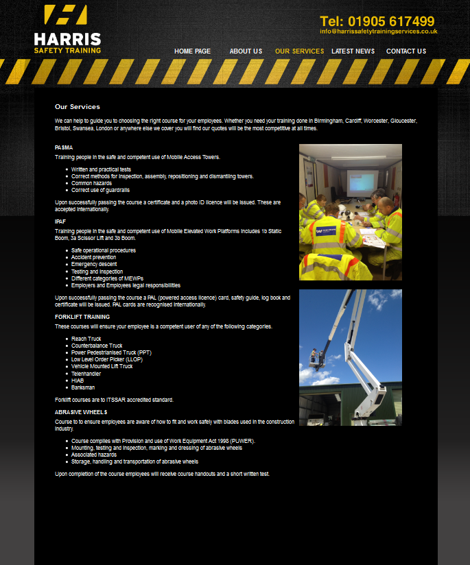 An Image from Harris Safety Training Services Webs