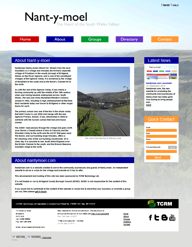 An Image from the Nant-y-moel Website