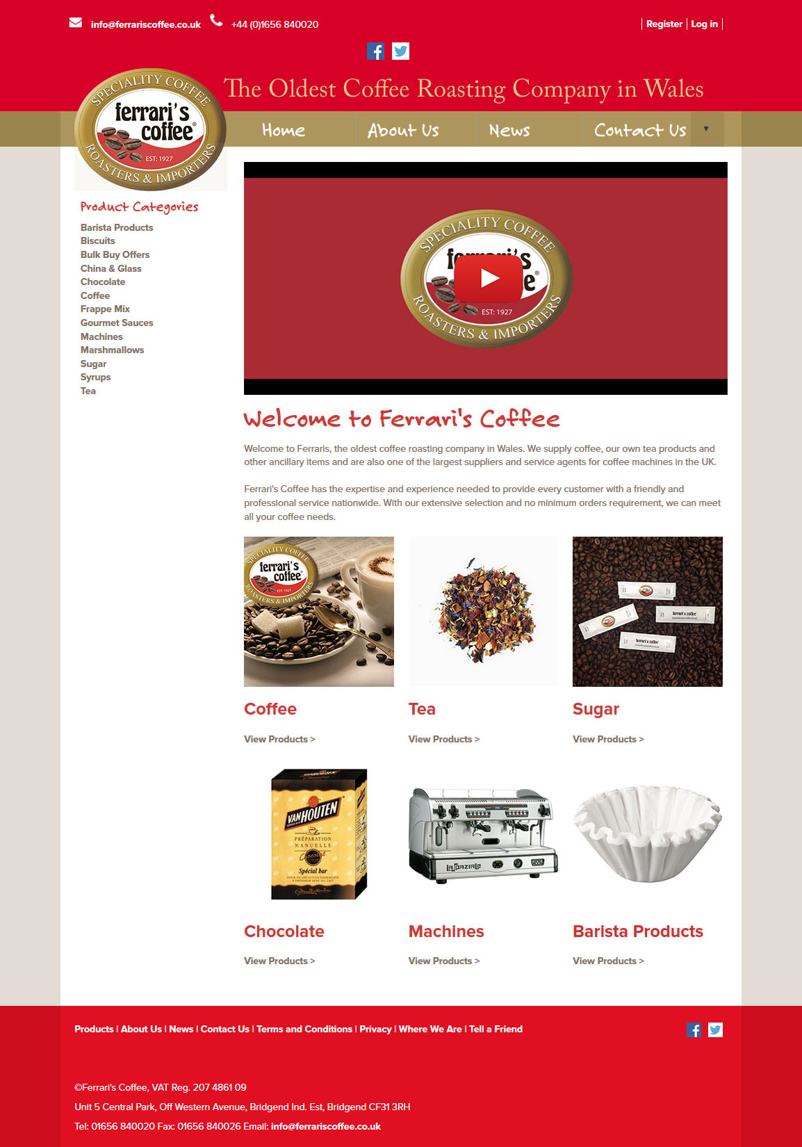 An image from Ferrari's Coffee website