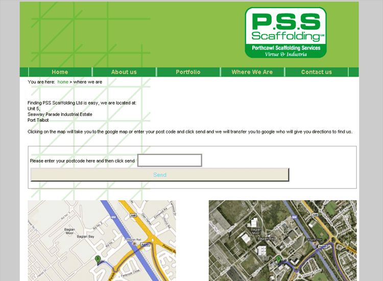 An image from the PSS web site
