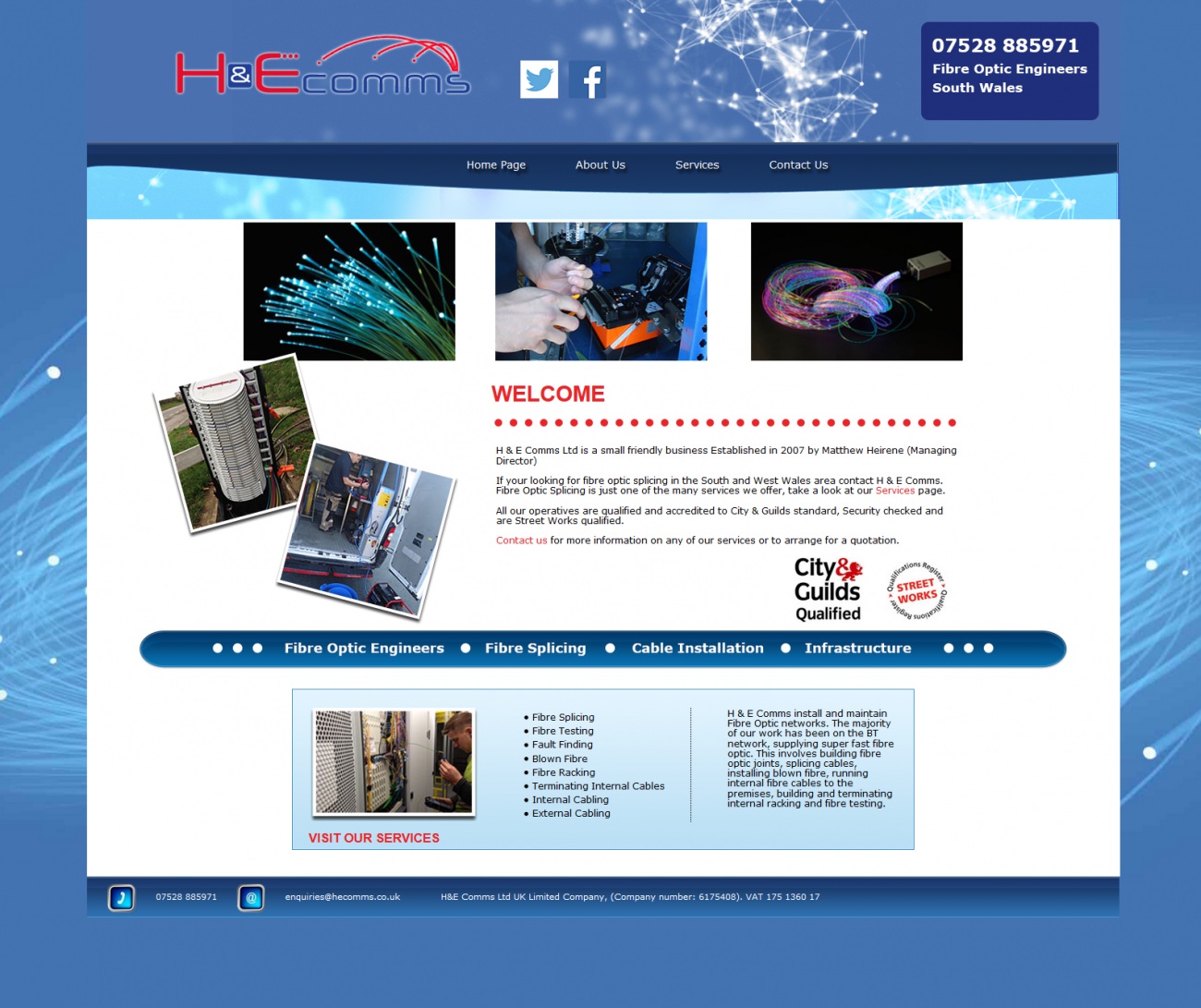An image from H & E Comms Website