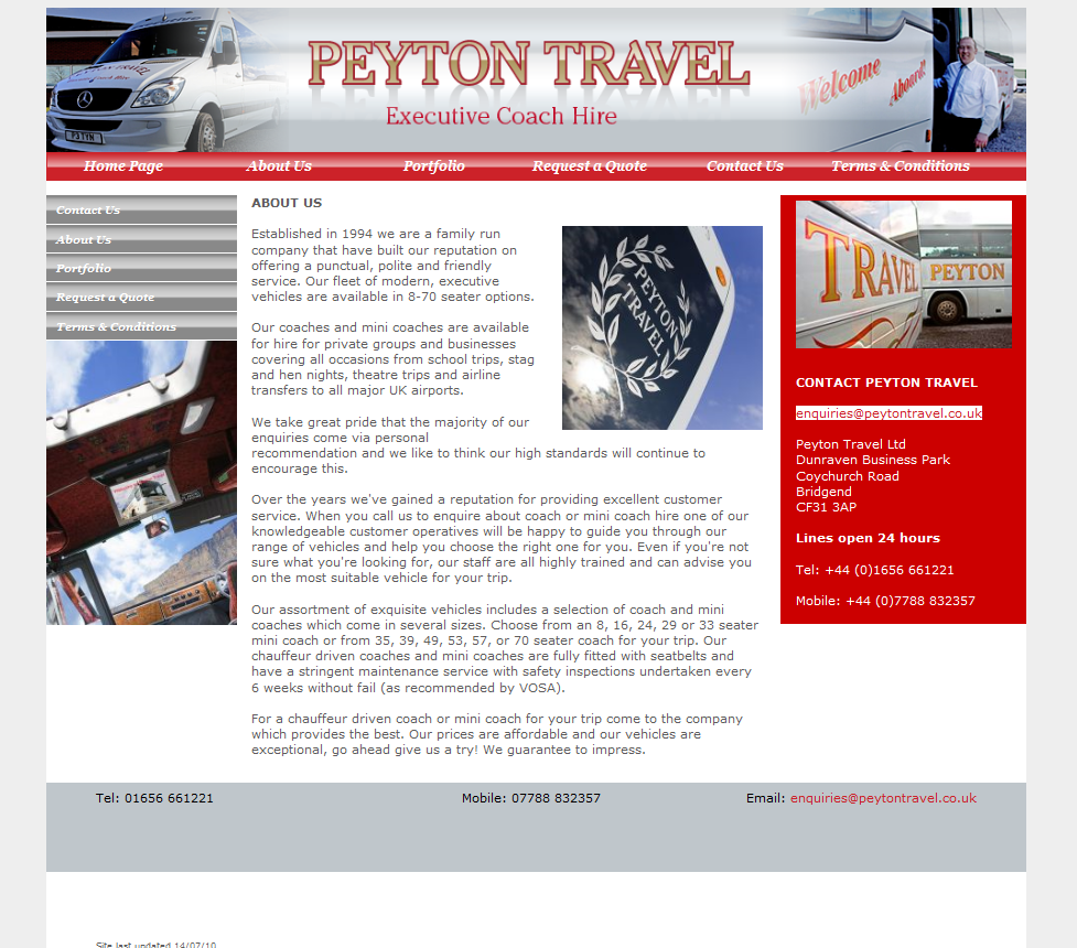An image from Peyton Travel Website