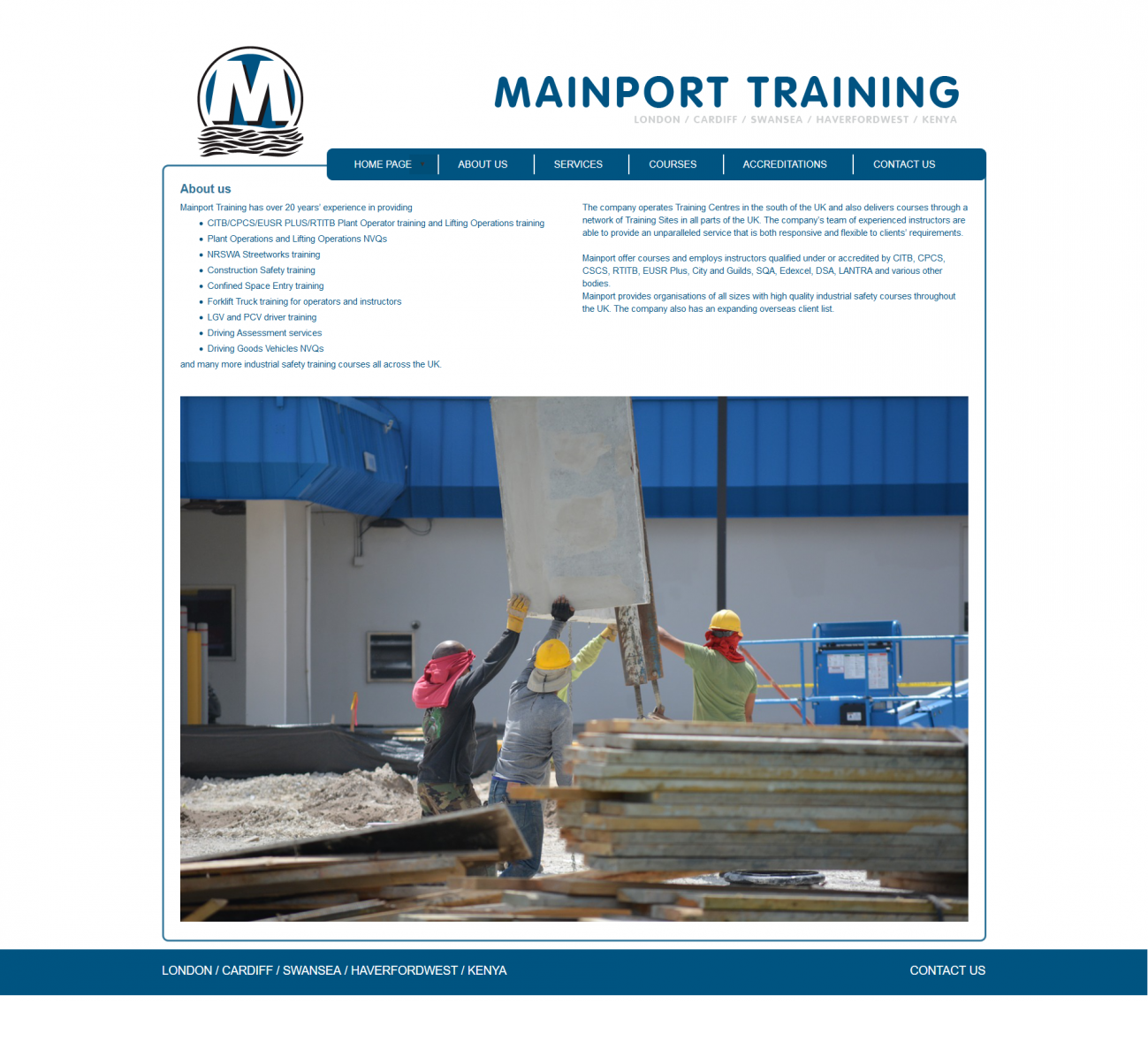 An image from Mainport Training