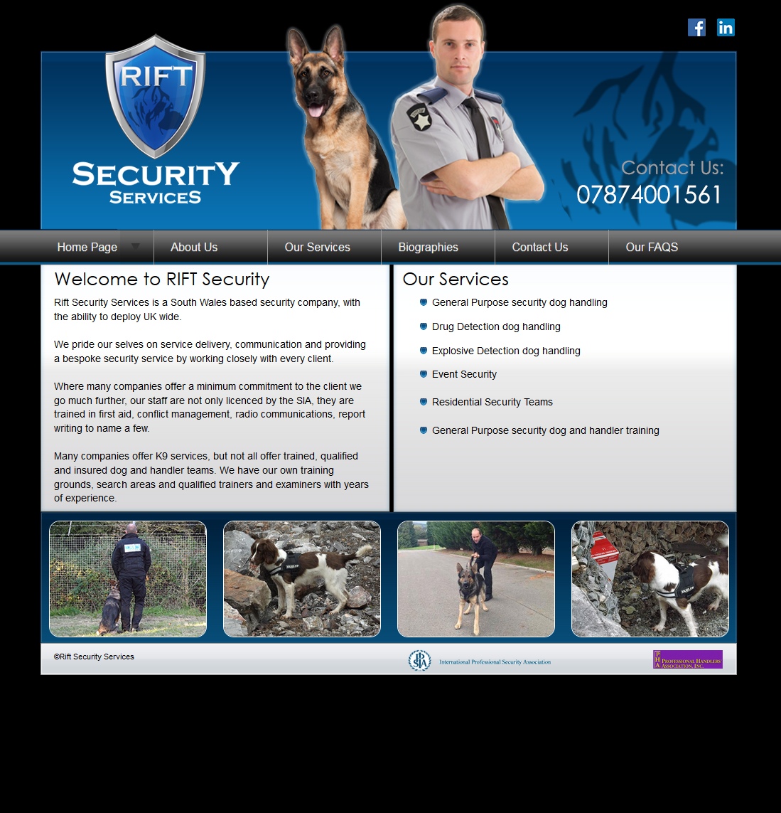 An image from the Rift Security Services website