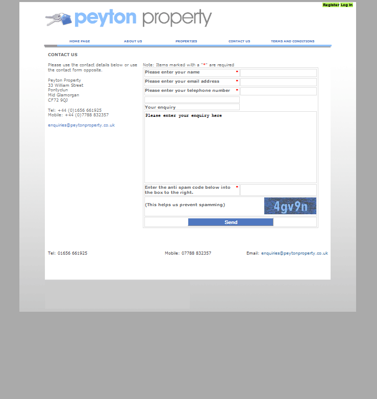 An image from Peyton Property Website