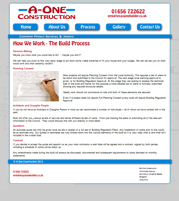 An Image from A One Construction Website
