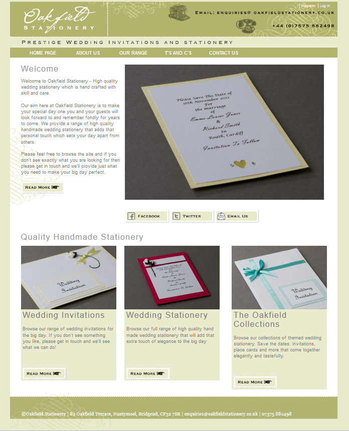 An Image from The Wedding Stationery Website