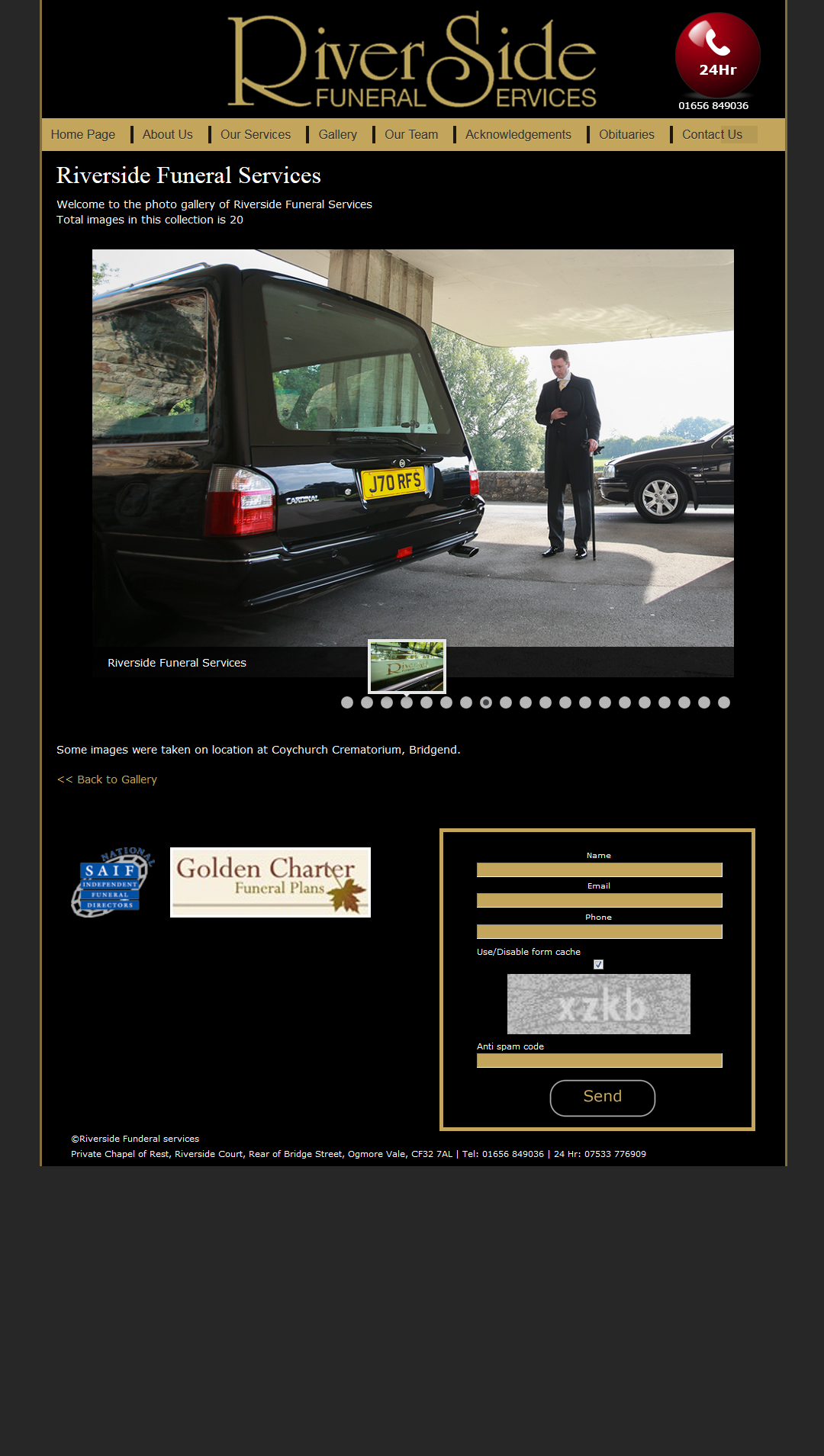 An image from Riverside Funeral Services Website