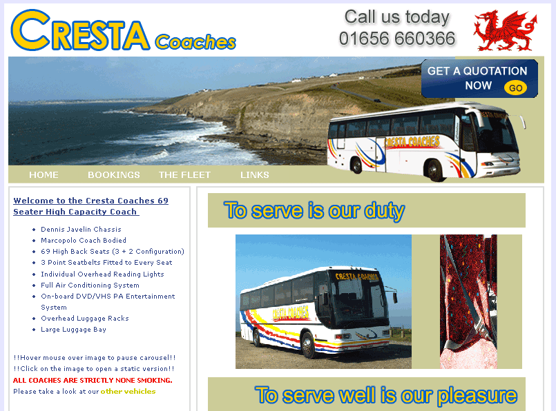 An image from the Cresta Coaches Website