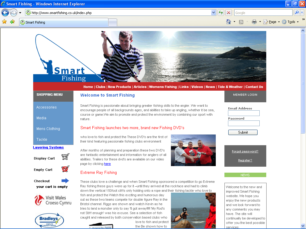 An image from the Smart Fishing Web Site