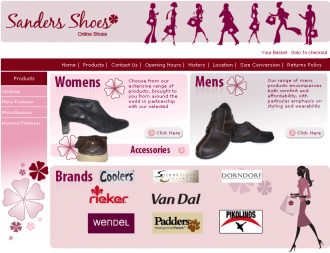 An image from the Sanders Shoes Website